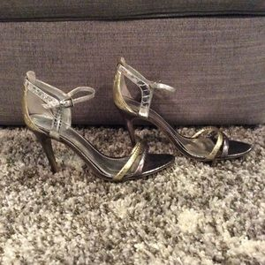 Guess Silver and Gold Heels